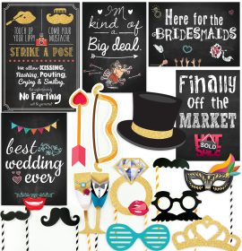 Curiously Fun Wedding Photo Booth Props