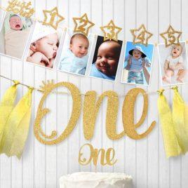 1-12 Monthly Milestone Photo Garland for 1st birthday