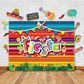 Summer Fiesta Theme Photography Backdrop and Props