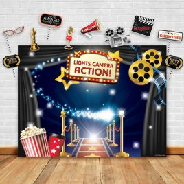 Hollywood – Movie Theme Photography Backdrop and Props