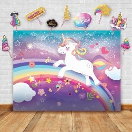 Magical Unicorn Theme Photography Backdrop and Props