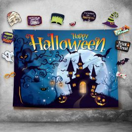 Happy Halloween Photography Backdrop and Studio Props DIY Kit