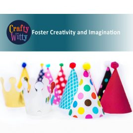Crafty Witty – Gold Foiled Party Hats & Crowns