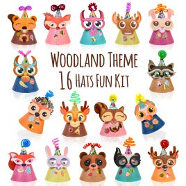 Woodland Animal Themed Party Hats Making Kit
